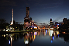 Melbourne at night - where to live in Melbourne
