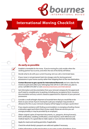International Moving Checklist