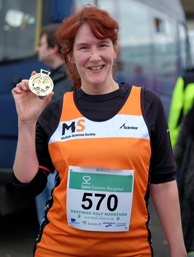 Tricia completes Hastings Half Marathon in aid of MS Society