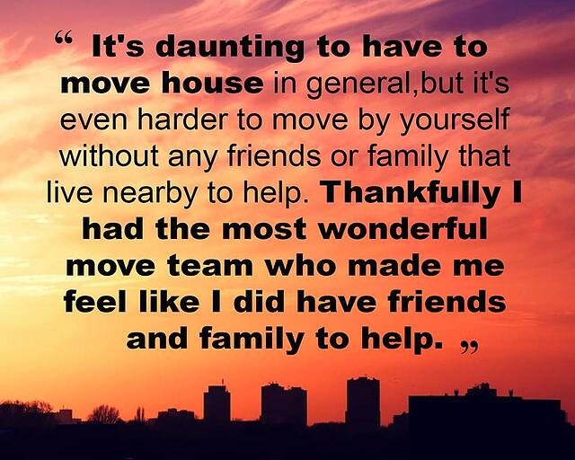 customer testimonial: a removal company gives you help if you don't have much support