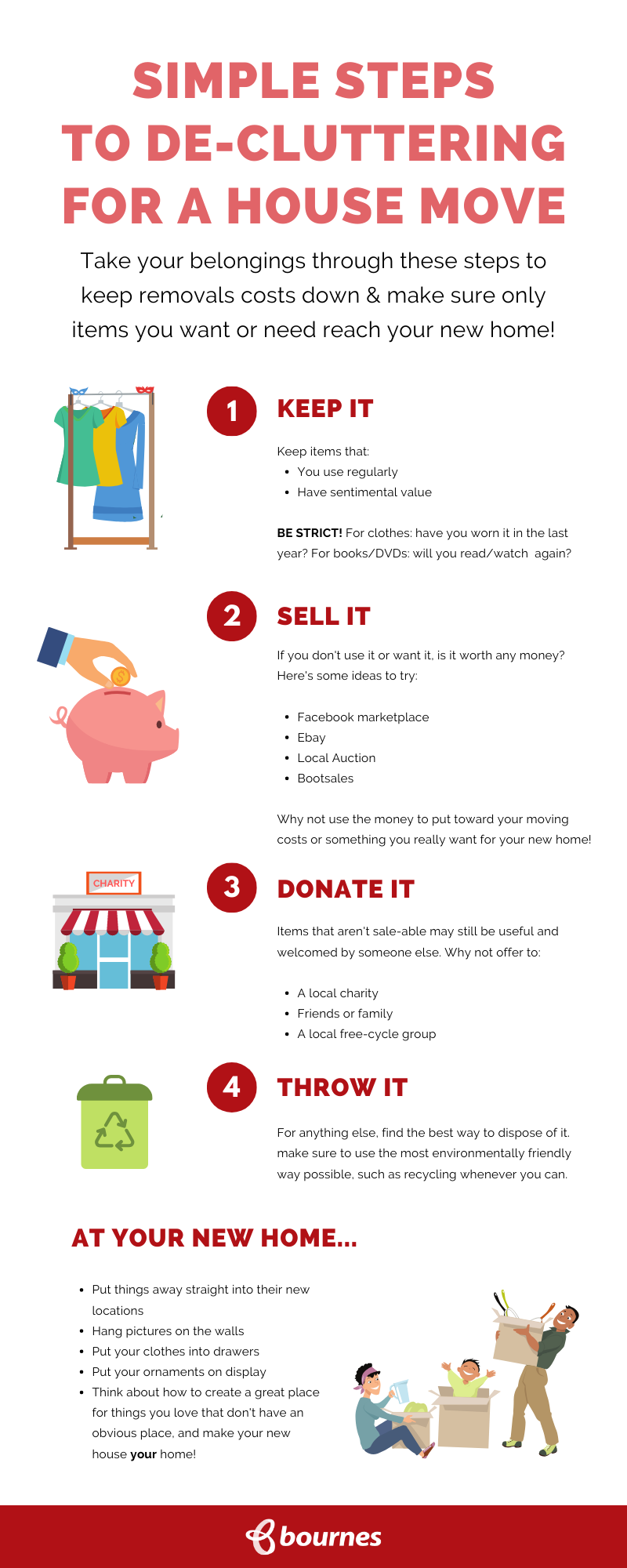 De-cluttering before moving house Infographic