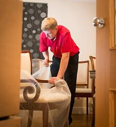 professional removers are trained and skilled in wrapping and packing