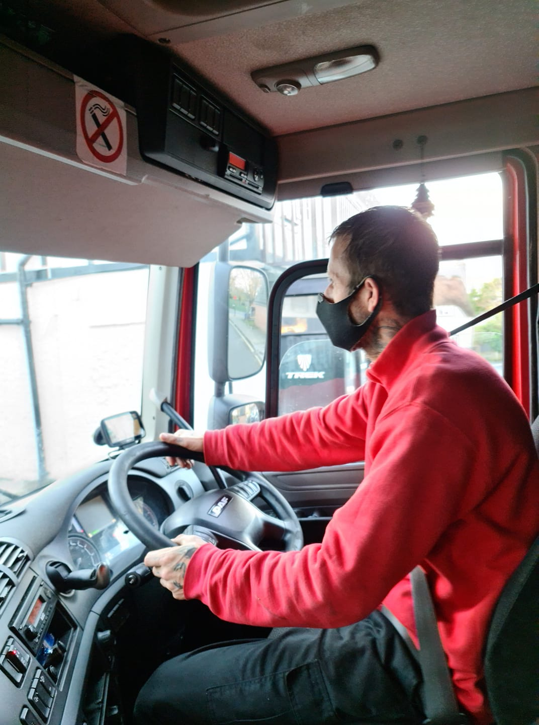 Aaron successfully completed his driver apprenticeship
