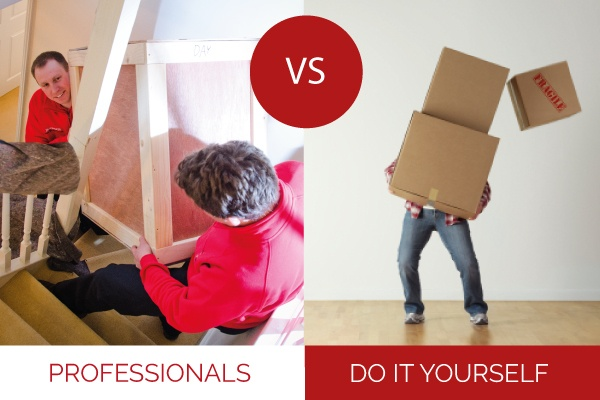 should you hire a professional removal company or hire a van to do it yourself