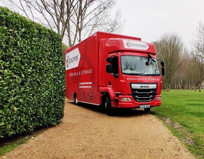new truck in gravel driveway