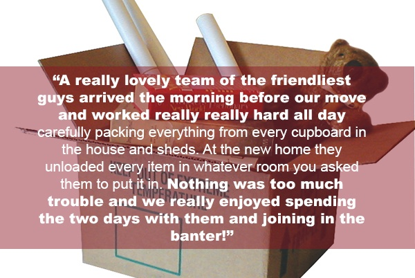 customer testimonial: removal companies can help with lots of tasks making move day easy