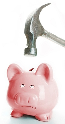 piggy bank and hammer - how much do international removals cost?