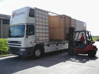 storage container for moving house loaded onto removals lorry