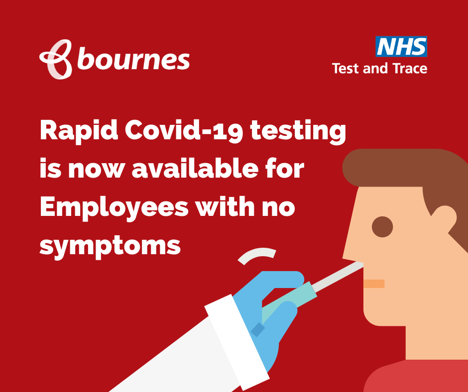 New Covid-19 Testing Programme Starts for Employees at Bournes Moves